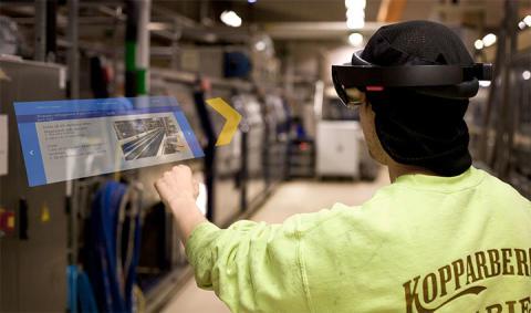 Kortare startsträcka för nya medarbetare på bryggeri genom AR – nu visas tekniken i Kopparberg
