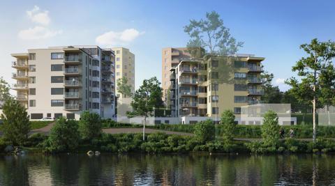 HSB bygger 92 bostäder vid Mälaren i centrala Strängnäs