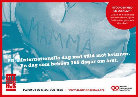 Internationella dagen mot våld mot kvinnor
