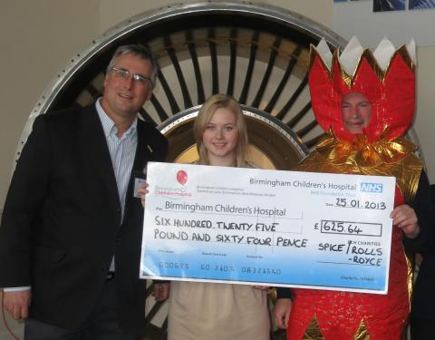 'Crackers' supporter causes a bang for Birmingham Children's Hospital