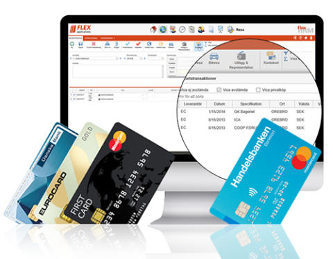 Nu lanserar vi kortköp via Handelsbanken - direkt in i Flex!