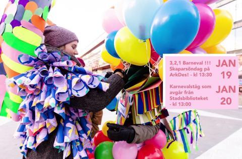 Codesign Research Studio anordnar Barneval, ett karnevalsståg till Riksdagen för att fira att barnkonventionen nu är lag i Sverige