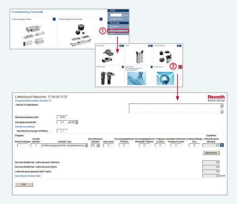 Ingenjörsverktyg för pneumatik på nätet