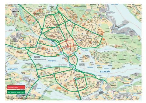 Karta alternativa vägar