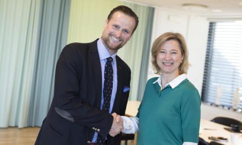 Carl Johan Sonesson och Sophie Hæstorp Andersen