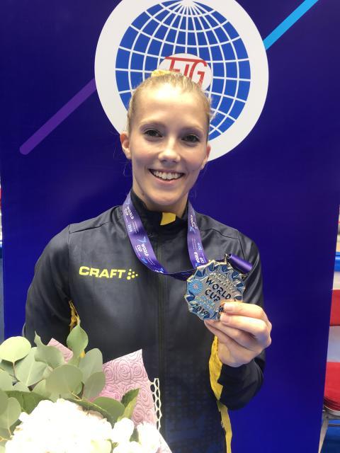 Lina Sjöberg världscupsguld i DMT