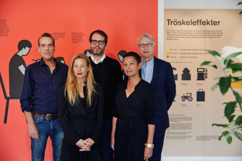 Portrait picture Lars Arrhenius, Eric Ericson, Carl Folke, Karin Södergren, Maria Veerasamy