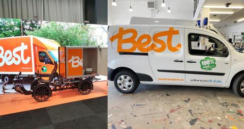 Best Transport rullar ut lastcyklar och elbudbil