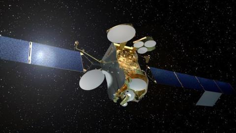 Satelita EUTELSAT 172B w drodze do Kourou