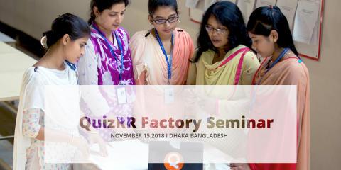 Save the Date for QuizRR Factory Seminar Nov 15 2018 - Dhaka Bangladesh