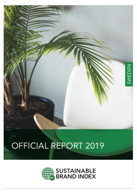 Officiell rapport Sustainable Brand Index 2019