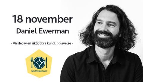 Inbjudan till lunch@expectrum med Daniel Ewerman 18 november