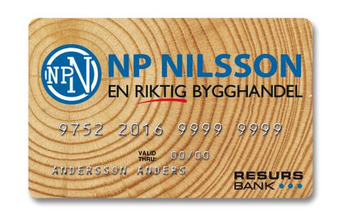 Bygghandelsföretaget NP Nilsson väljer Resurs Bank för kundfinansiering med delbetalning