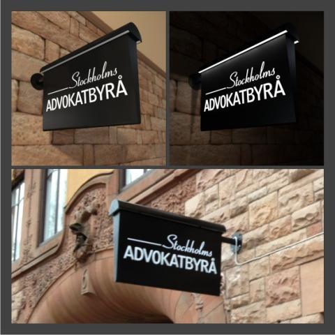 Retroskylt i modern tappning - Stockholms Advokatbyrå