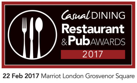 Casual Dining Restaurant & Pub Awards 2017 announces finalists