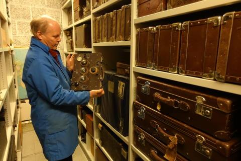Historisk samling fra NRK til Teknisk museum. Gammelt opptaksutstyr