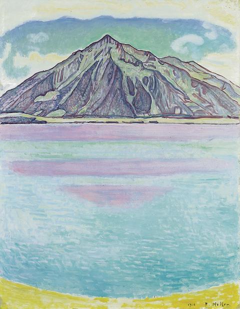 Ferdinand Hodler: Thunersee mit Niesen, 1910