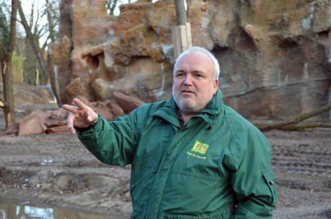 Führung über die Baustelle Südamerika mit Zoodirektor Prof. Dr. Jörg Junhold