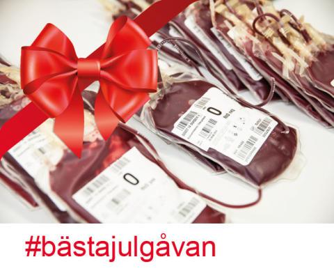 Nu startar blodgivningskampanjen #bästajulgåvan