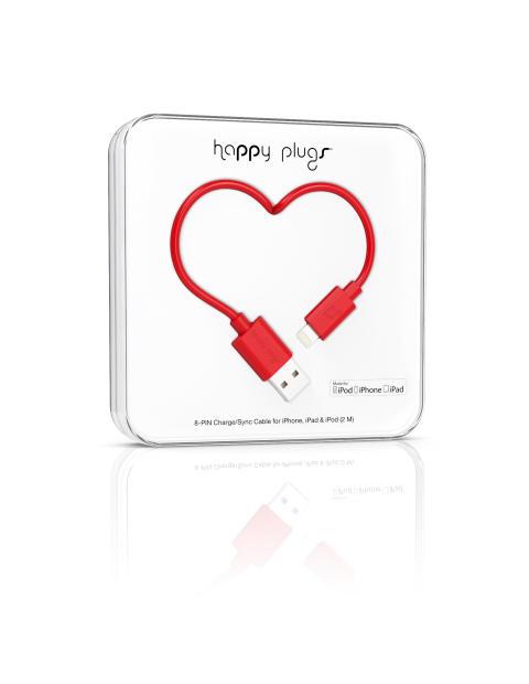 HAPPY PLUGS Lightning till USB-kabel - Röd