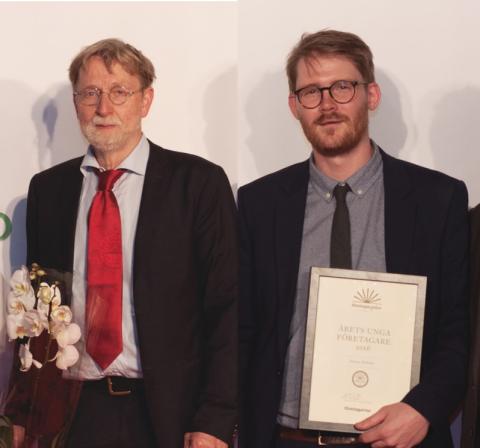 UICs alumnbolag Olink och UIC-företagaren Jimmy Heibert prisades på Företagargalan