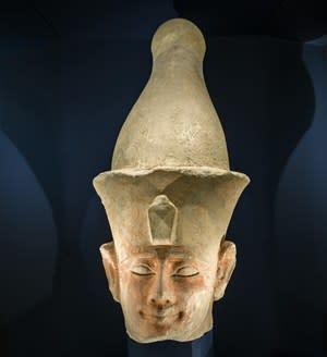 Statyhuvud föreställande kung Sesostris I