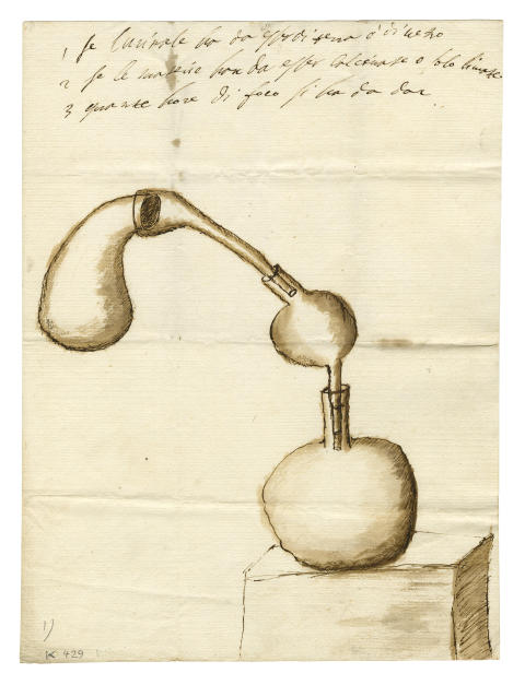 Drottning Kristinas ritning av alkemisk apparatur