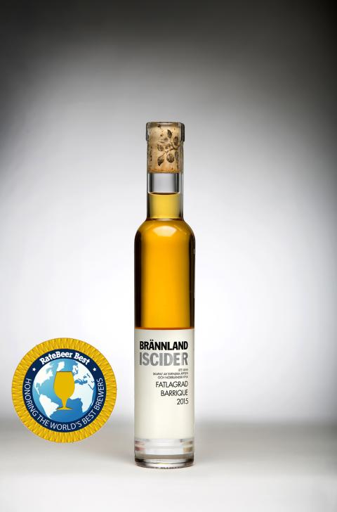 Brännland Iscider Barrique 2014 wins Ratebeer Best 2018 cider and perry category