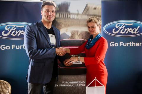 Kiss Gergely háromszoros olimpiai bajnok a Ford Mustang nagykövete