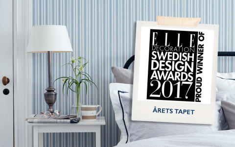 ​Boråstapeter vinner Elle Decoration Swedish Design Awards   - Sissa Sundling får priset Årets Tapet för kollektionen Lexington