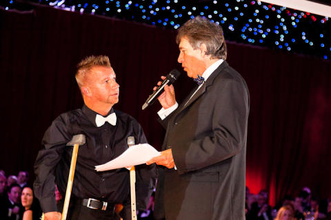 Paralympic champion Lee Pearson CBE at the SportsBall in 2011