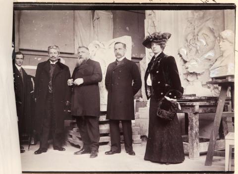 Georg Brandes visits Auguste Rodin
