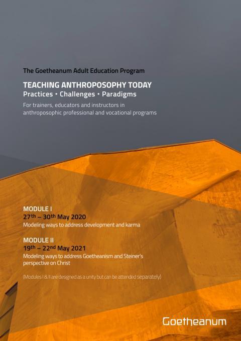 Goetheanum Adult Education Programm Flyer