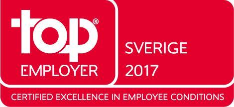 För andra året i rad tar Saint-Gobain Sweden hem den prestigefyllda certifieringen Top Employer.