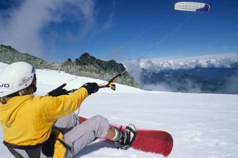 Snowkiting i Serre Chevalier