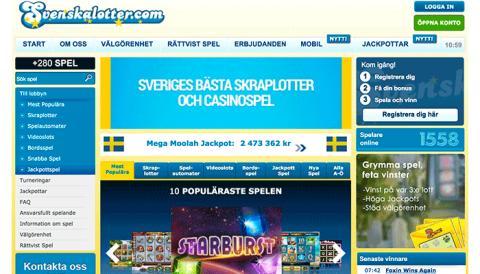 Intervju med halvnya Casinot Svenska Lotter