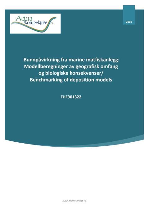 """Rapport """"Bunnpåvirkning fra marine matfiskanlegg"""""""