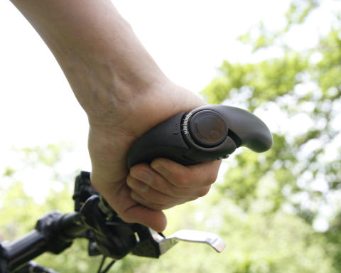 Ergon grips in use