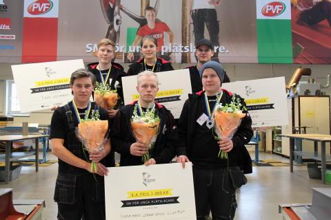 Finalisterna i SM för unga plåtslagare 2015.