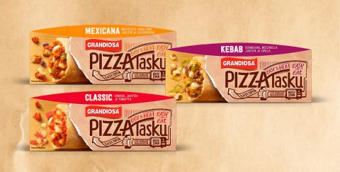 Grandiosan Pizzataskulle pakkauspalkinto