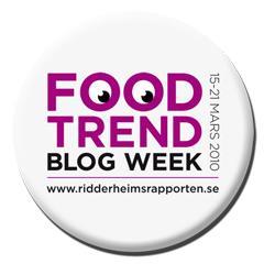 Var med och tyck till om mat och trender på matbloggsveckan den 15 - 21 mars.
