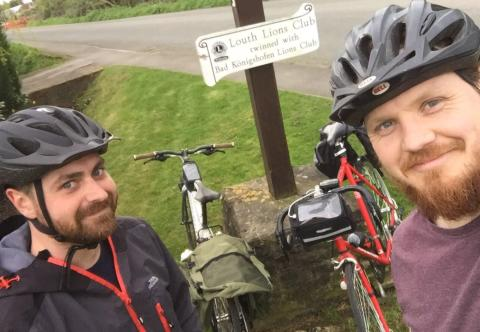 Keen cyclist rides over 170 miles to thank charity for supporting his friends
