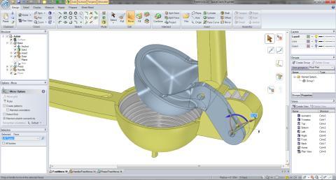 SpaceClaim 3D-suunnittelu ohjelmisto