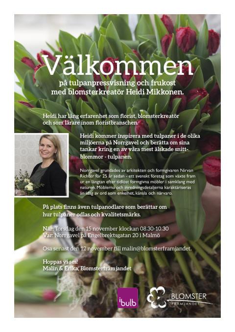 Inbjudan_Blomsterfrämjandet_Tulpanpressvisning
