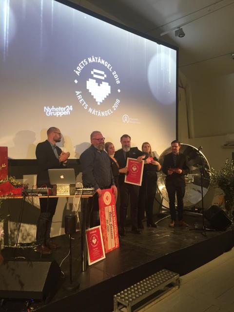 Årets Nätängel 2016 – en kväll helt fri från hat