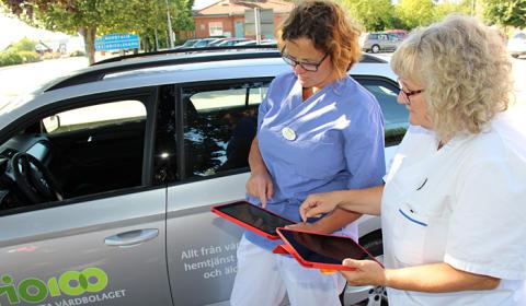 Väddö vårdcentral testar mobil journal