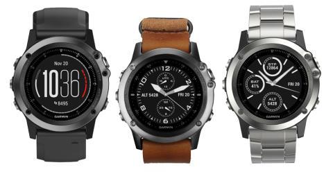 Tre nye Garmin fenix 3 Sapphire multisport klokker – pulsmåler på håndleddet, nye aktivitetsprofiler og flere klokkeremmer