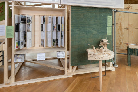 Exhibition view, The Library, The National Museum - Architecture. Photo: OAT / Istvan Virag