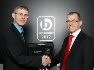 Aspire is 33rd Sunday Times Best Not for Profit to work for!