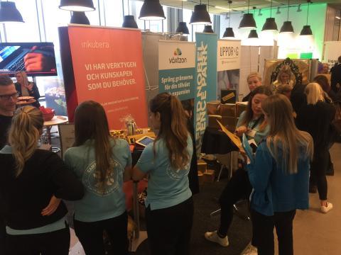 Full aktivitet på årets Campusmässa för och med studenter och företag!
